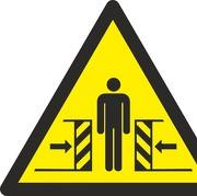 Aufkleber Warnung vor Quetschgefahr W019