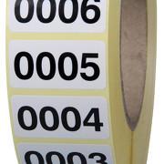fortlaufend nummerierte Etiketten Haftpapier weiß oder farbig