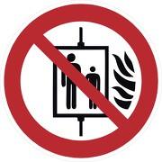 Aufkleber Aufzug im Brandfall nicht benutzen P020