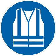 Schild Warnweste benutzen M015