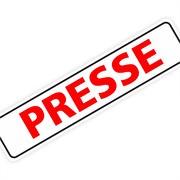"Magnetschild ""Presse"" 30 x 7 cm 1mm stark"