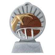 Pokal mit 3D Motiv Basketball Serie Ronny 10,5 cm hoch