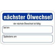 """""""Nächster Ölwechsel"""" Wartungsaufkleber allgemein 58 x 36 mm"""