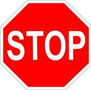 Aufkleber Stop Stopschild 8 20 40 70 100 cm wetterfest