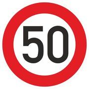 Schild Aufkleber Zulässige Höchstgeschwindigkeit 50 km/h