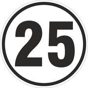 25 km/h Aufkleber Auto LKW Trecker Anhänger Schlepper 20 cm rund wetterfest