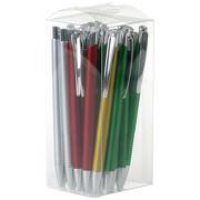 25 Kugelschreiber LASTI PVC/ABS in Klarsichtbox für Wiederverkauf