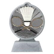 Pokal mit 3D Motiv Federball Badminton Serie Ronny 10,5 cm hoch