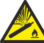 Schild Warnung vor Gasflaschen W029