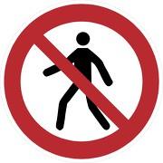 Schild Für Fußgänger verboten P004