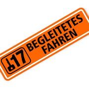 Magnetschild Begleitetes Fahren mit 17 30 x 8 cm 1mm stark Magnettafel