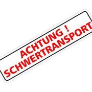 "Magnetschild ""Achtung Schwertransport"" 60 x 14 cm 1mm stark"