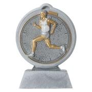 Pokal mit 3D Motiv Laufen Laufsport Crosslauf Marathon Serie Ronny 10,5 cm hoch