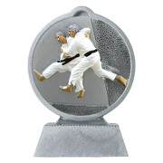 Pokal mit 3D Motiv Judo Kampfsport Karate Serie Ronny 10,5 cm hoch