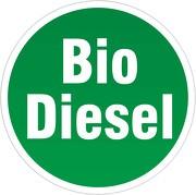 Aufkleber Biodiesel 8 cm rund selbstklebend gut haftend für LKW / Traktor etc