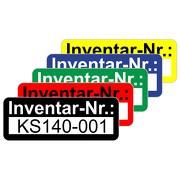 Inventaretiketten Inventaraufkleber selbstklebend 48x20 mm personalisierbar