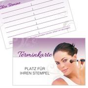 Terminkarte Kundenkarte Kosmetik Schönheitspflege Hautpflege Make-up 350g Karton gut beschreibbar mit Stempelfeld