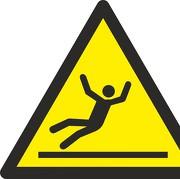 Aufkleber Warnung vor Rutschgefahr W011