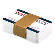 Lotus-Card beidseitig Visitenkarte matt foliert samtige Oberfläche 350g Papier