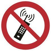 Aufkleber Eingeschaltete Mobiltelefone verboten P013