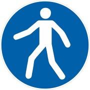 Schild Fußgängerweg benutzen M024