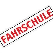 """Magnetschild """"Fahrschule"""" 30 x 7 cm 1mm stark"""