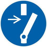Aufkleber Vor Wartung oder Reparatur freischalten M021