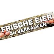 Spannbanner Banner Werbebanner Eier zu verkaufen 2 m lang