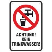 Schild Achtung kein Trinkwasser Aufkleber 3 mm Aluverbund
