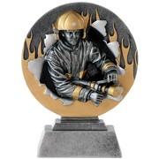 Pokal Trophäe Feuerwehr Resin PVC 20 cm hoch
