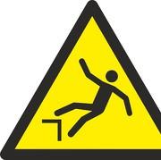 Aufkleber Warnung vor Absturzgefahr W008