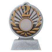 Pokal mit 3D Motiv Zweiter Platz 2 Serie Ronny 10,5 cm hoch