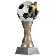 Pokal Fußball Lyon aus Resin silber gold handbemalt, 26, 28, 31oder XXL 80cm