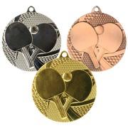 Medaille Tischtennis Tischtennis-Medaillen rund gold silber bronze