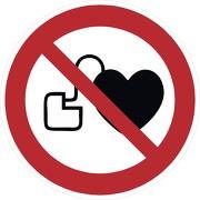Schild Kein Zutritt für Personen mit Herzschrittmachern oder implantierten Defribrillatoren P007