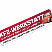 KFZ Werkstatt Spannbanner Banner Werbebanner Plakat 2,00 x 0,5 Meter