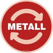 Wertstoffkennzeichnung Metall Aufkleber