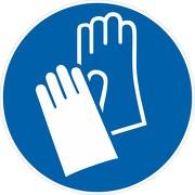 Aufkleber Handschutz benutzen M009