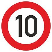 Schild Aufkleber Zulässige Höchstgeschwindigkeit 10 km/h