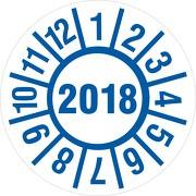 Prüfplakette Medizintechnik 30mm 2018 /Jahresprüfplakette  / Jahresprüfetiketten