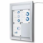 Premium Schaukasten außen wetterfest mit LED abschließbar