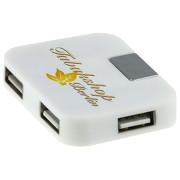USB Hub mit 4 Ports mit Druck 4-farbig Werbedruck Logo Fotodruck