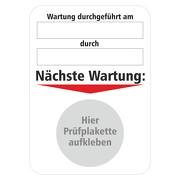 """Grundplakette für """"nächste Wartung"""" 50 x 70 mm selbstklebend"""