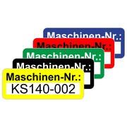Maschinennummer Aufkleber Etiketten selbstklebend 48 x 20 mm