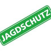 "Magnetschild ""Jagdschutz"" 30 x 7 cm 1mm stark"