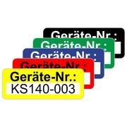 Gerätenummer Aufkleber Etiketten selbstklebend Geräteinventar 48x20 mm beschriftbar