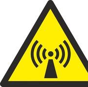 Aufkleber Warnung vor nicht ionisierender Strahlung W005