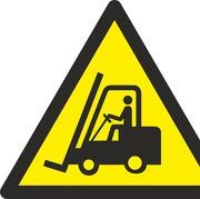 Schild Warnung vor Flurförderzeugen W014