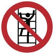 Schild Besteigen für Unbefugte verboten D-P022