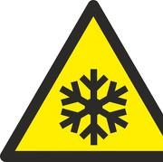 Aufkleber Warnung vor niedriger Temperatur/ Frost W010